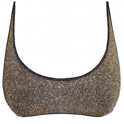 Glitter oro top donna oro costume