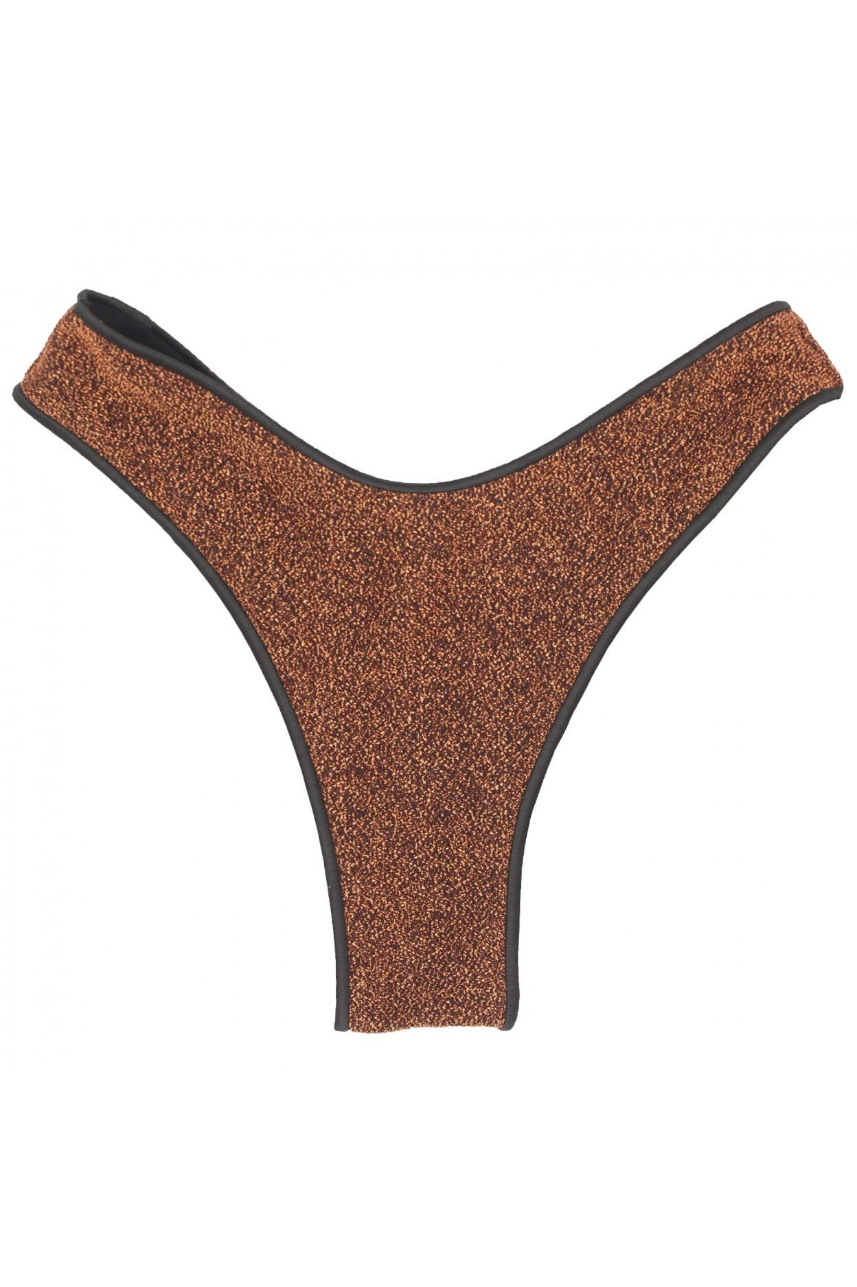 "Glitter bronzo brasiliana ""V"" donna bronzo costume"