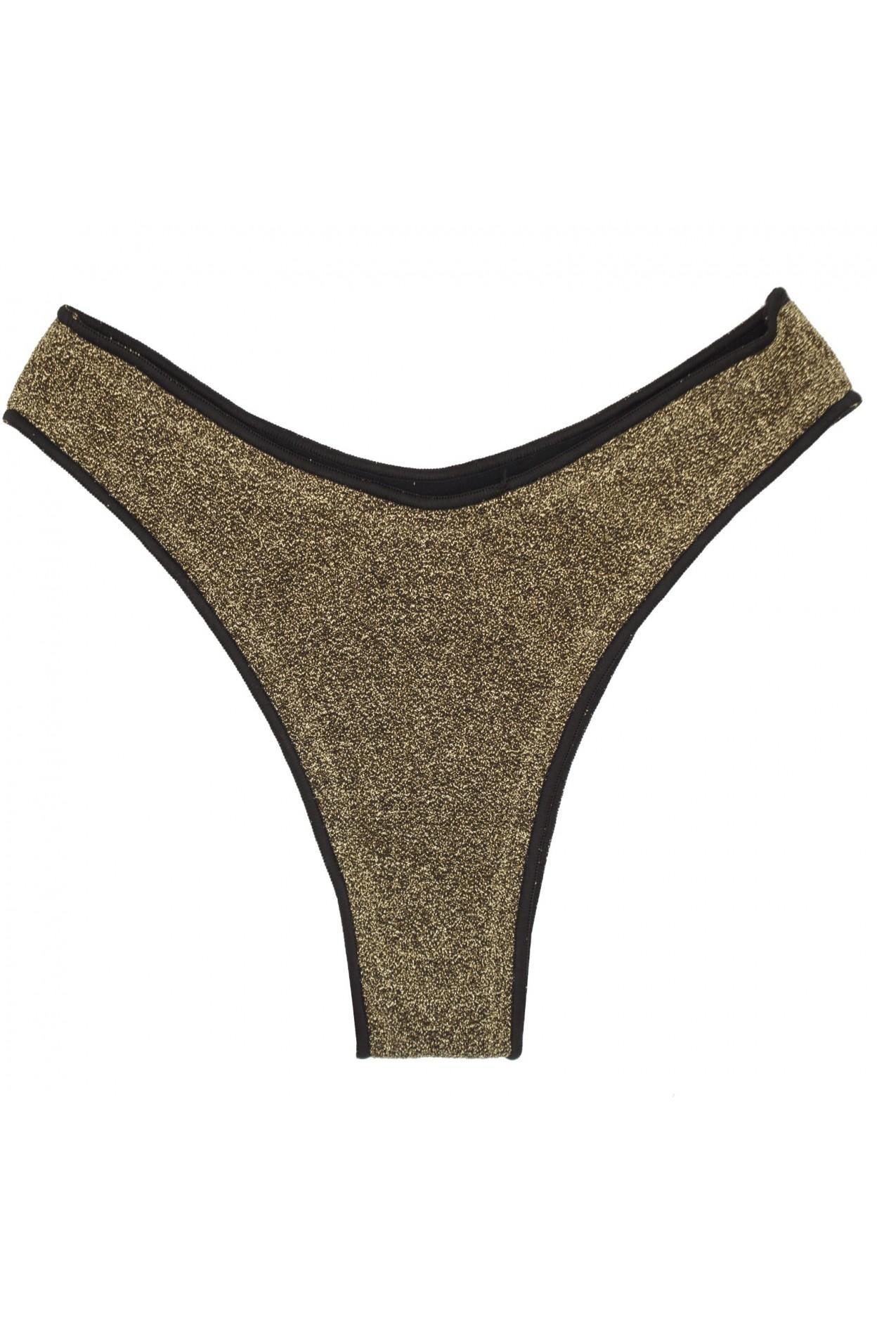 """Glitter oro brasiliana """"V"""" donna oro costume"""