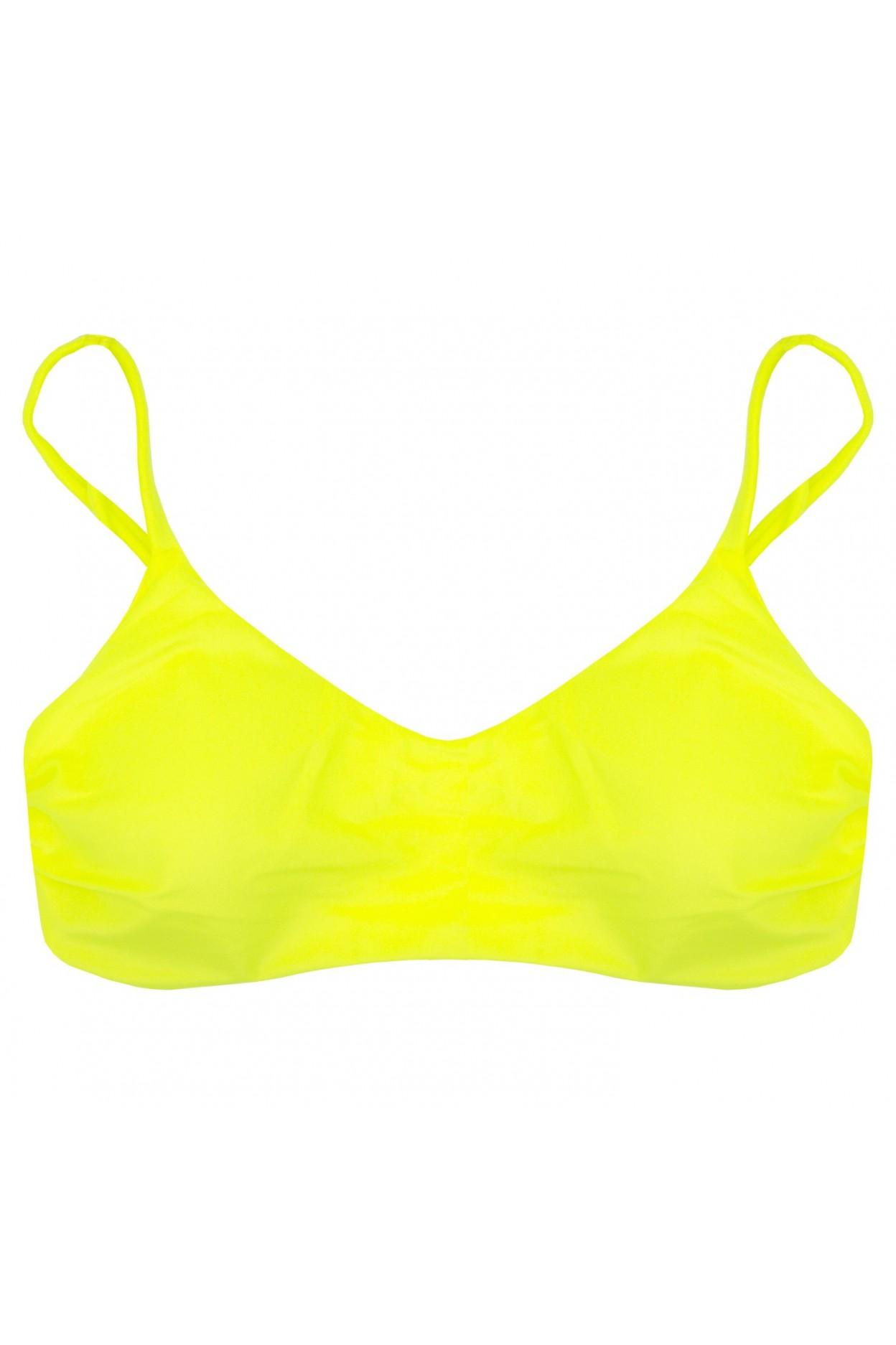 rodi fluo brassiere costume donna giallo