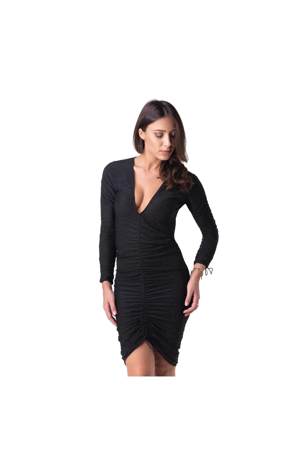 abito donna lurex nero