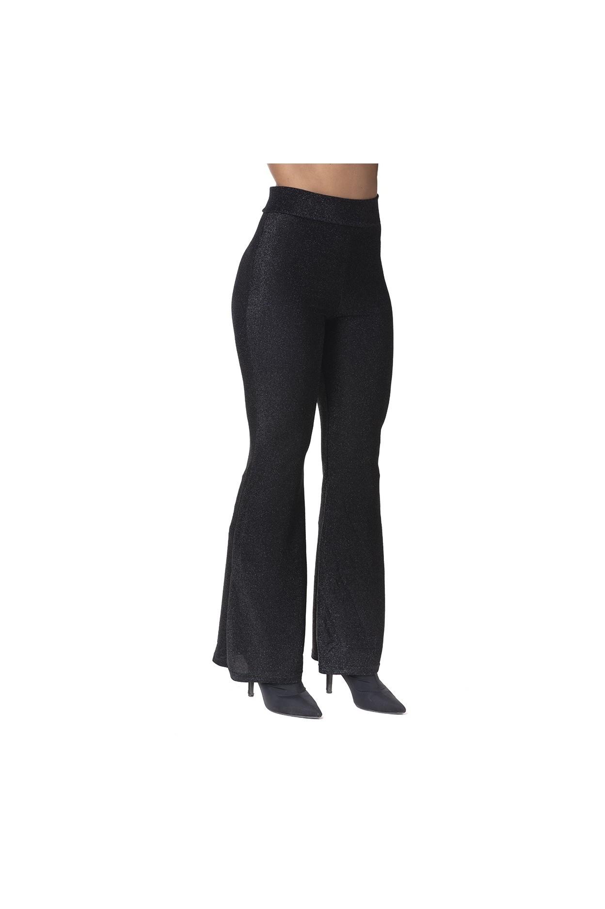 Pantalone Zampa Lurex Nero