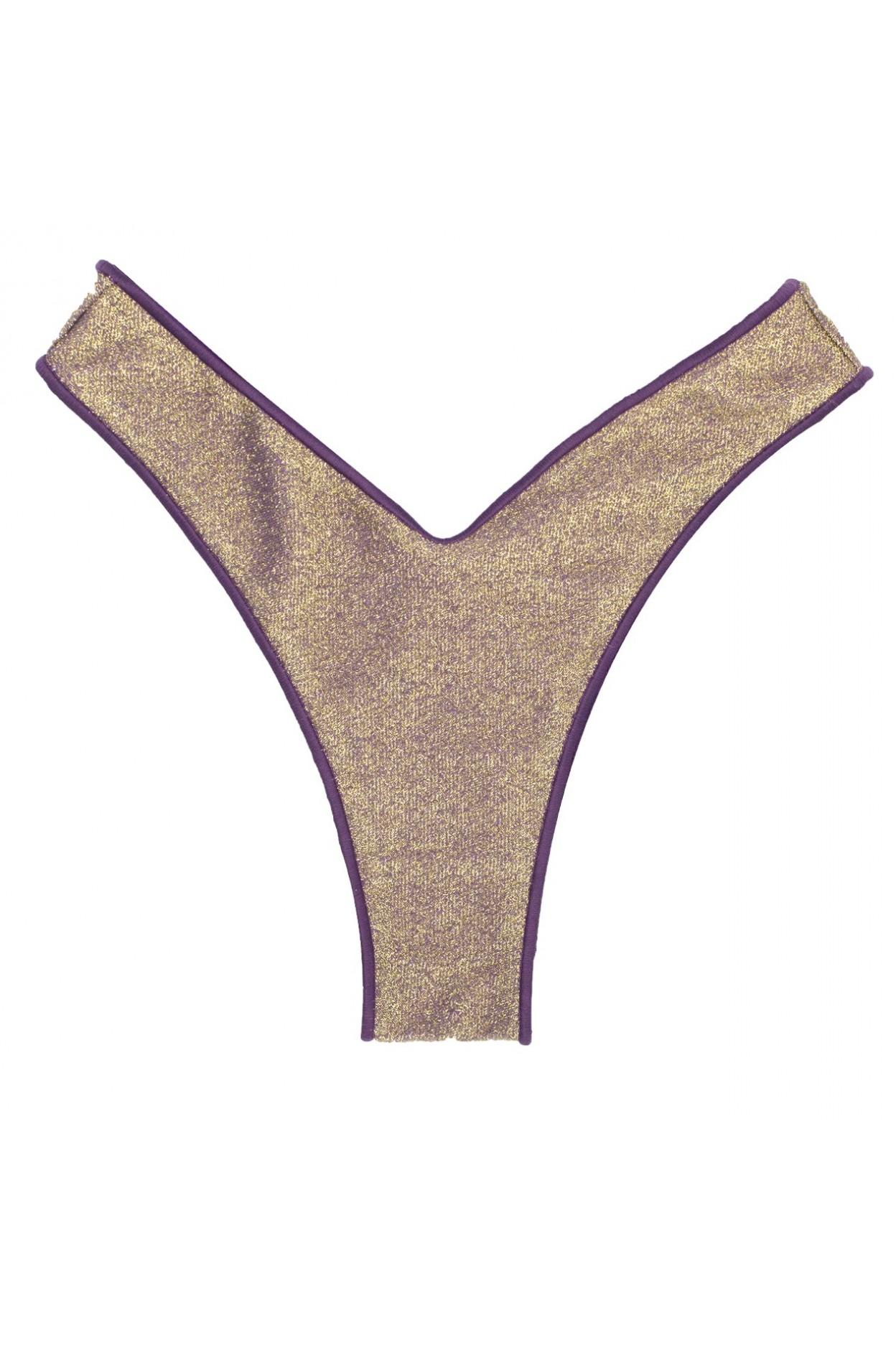 glitter violet gold brasiliana costume donna oro viola