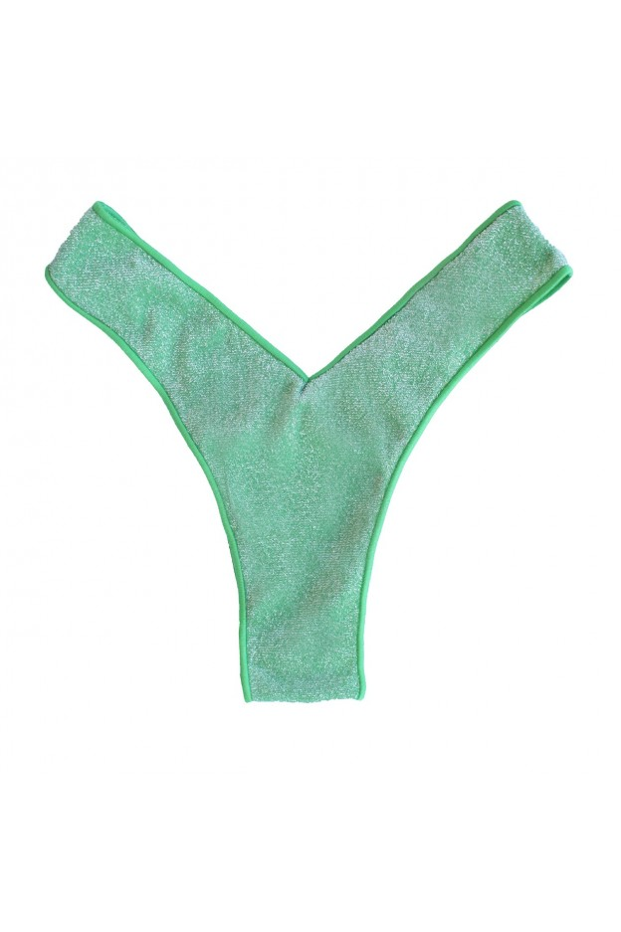 glitter menta brasiliana v costume donna verde