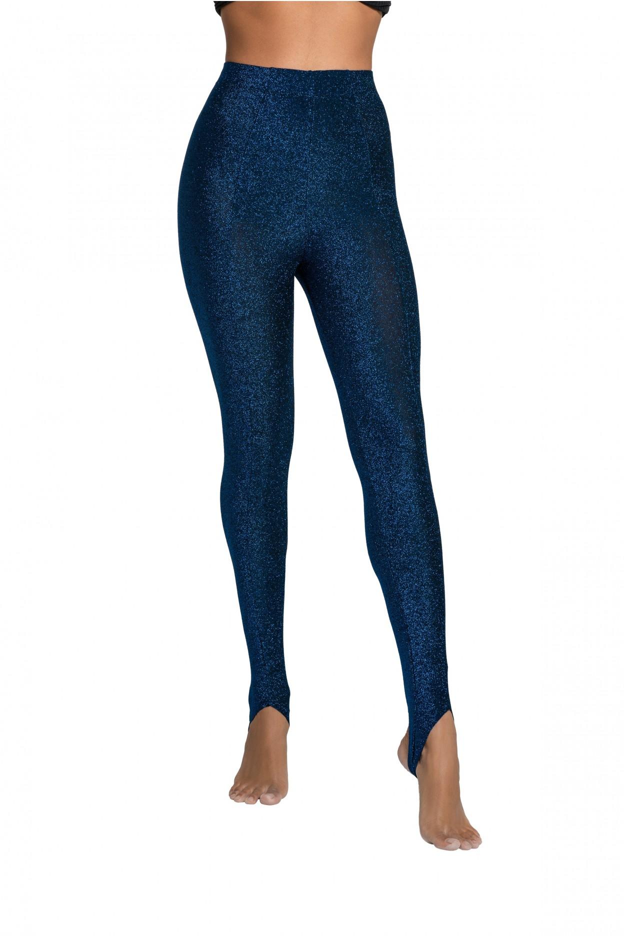 leggins cheval glitter blu pantalone donna