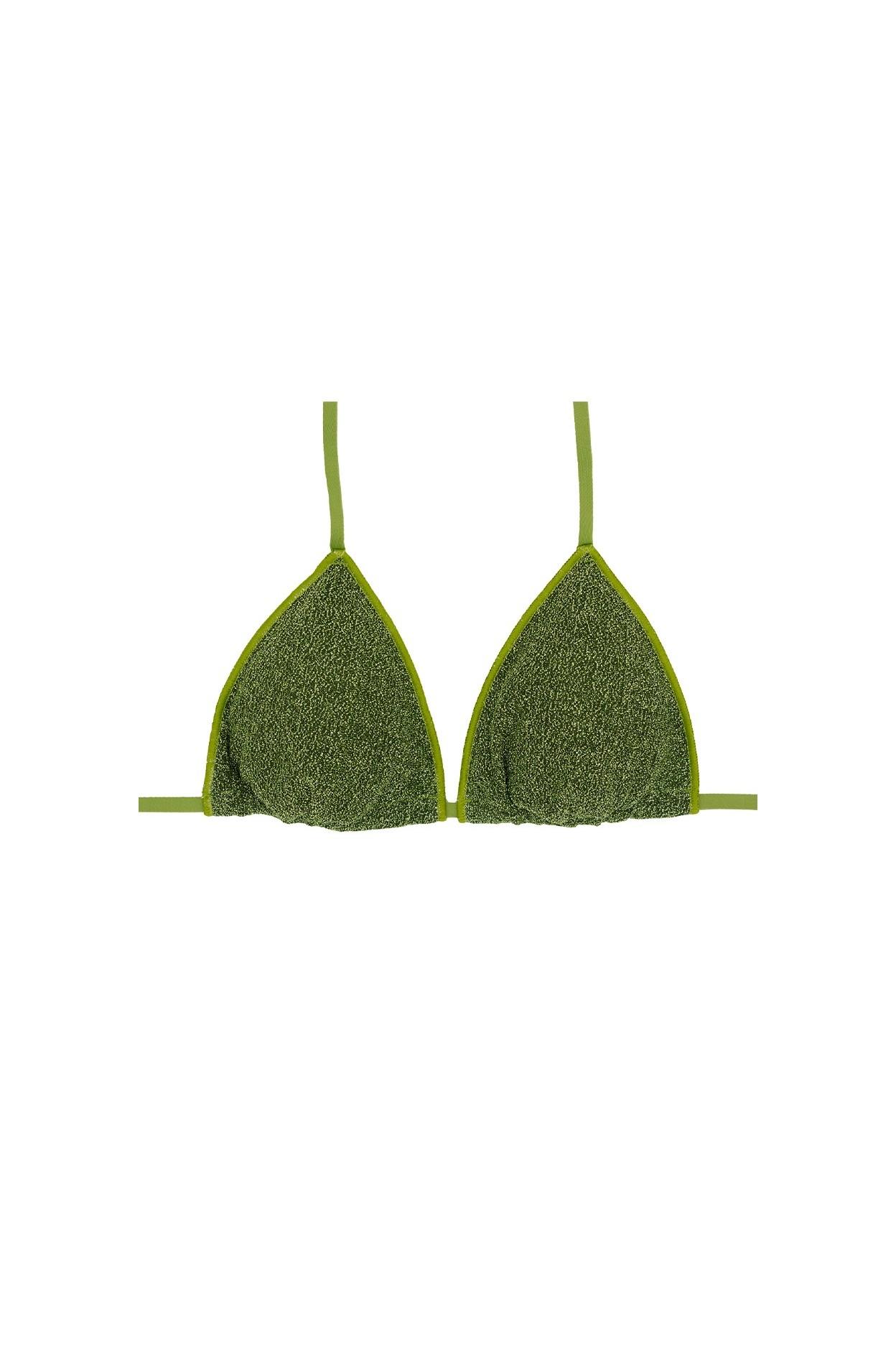 Glitter bosco triangolo costume  donna lurex verde