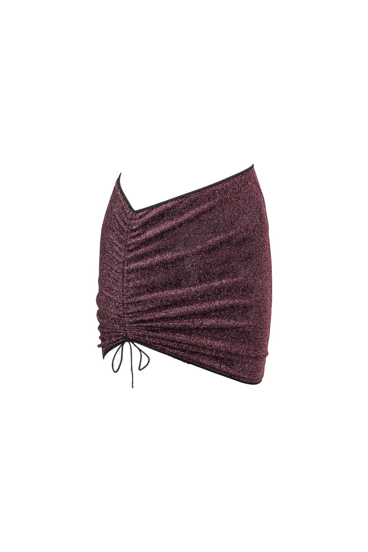 Glitter Malva mini-skirt