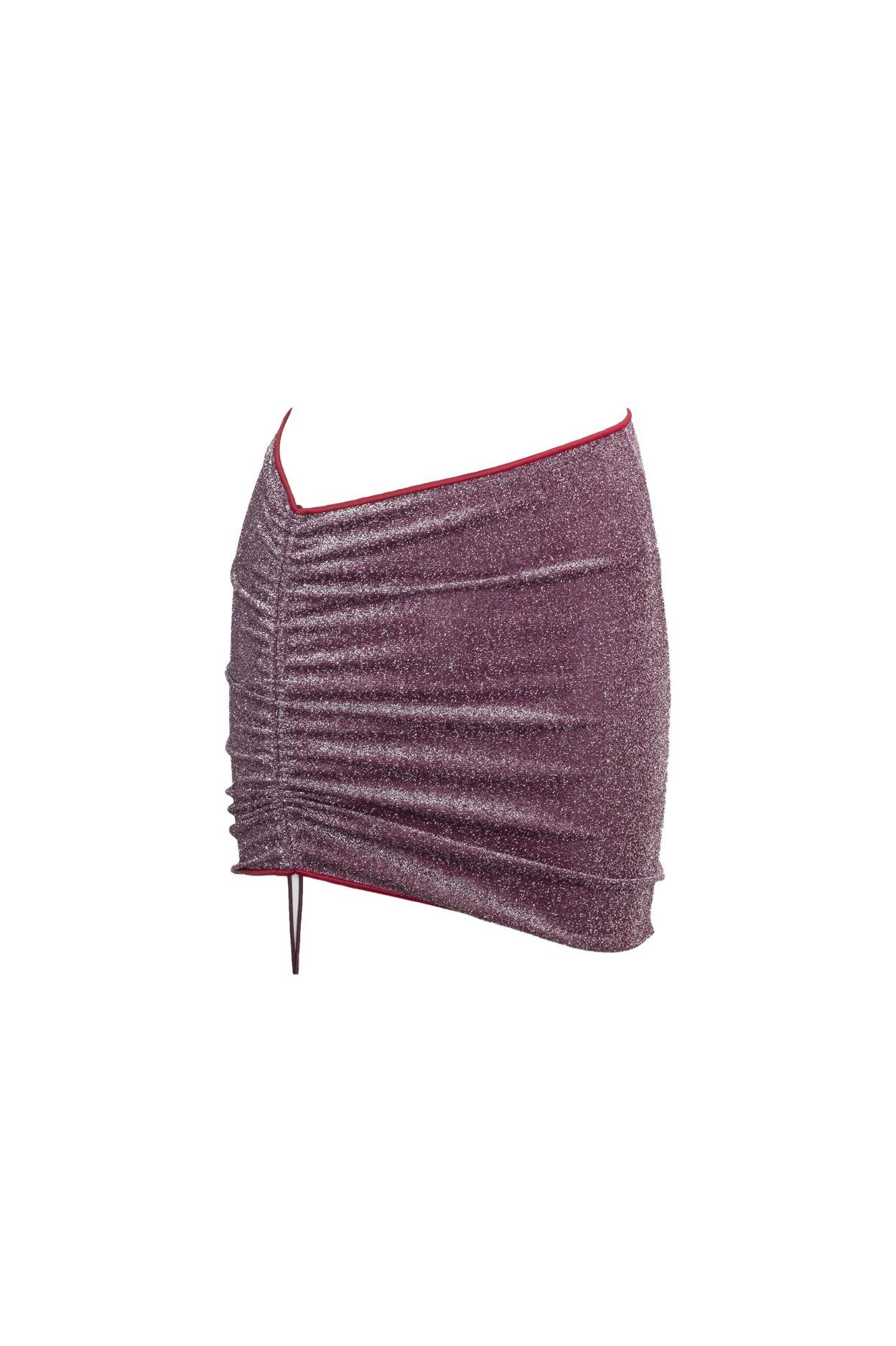 Glitter Cherry mini-skirt